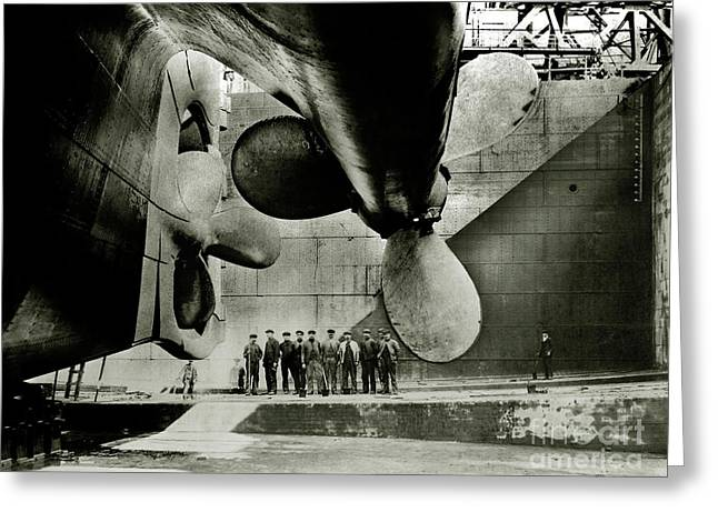 Titanic Propellers Greeting Card by Jon Neidert