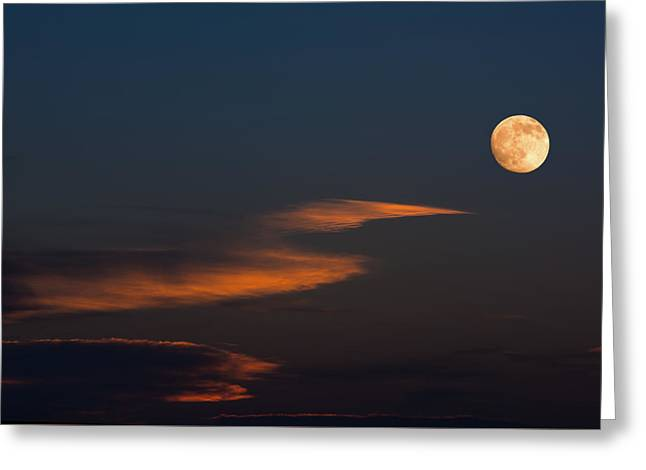 Harvest Moon Greeting Cards - To the Moon Greeting Card by Don Spenner
