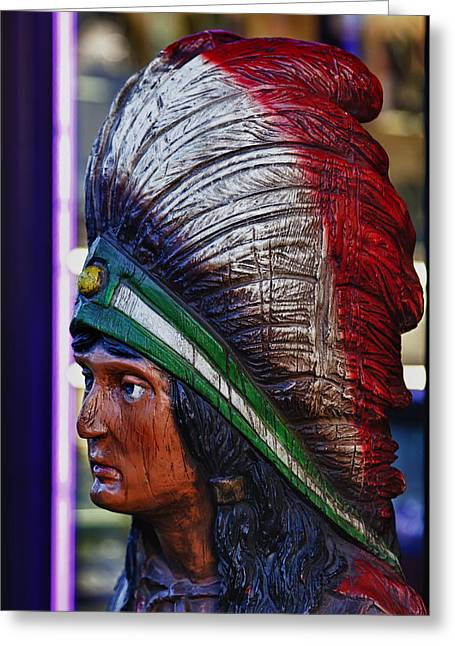 Interior Still Life Greeting Cards - Tobacco Store Indian Greeting Card by Robert Ullmann