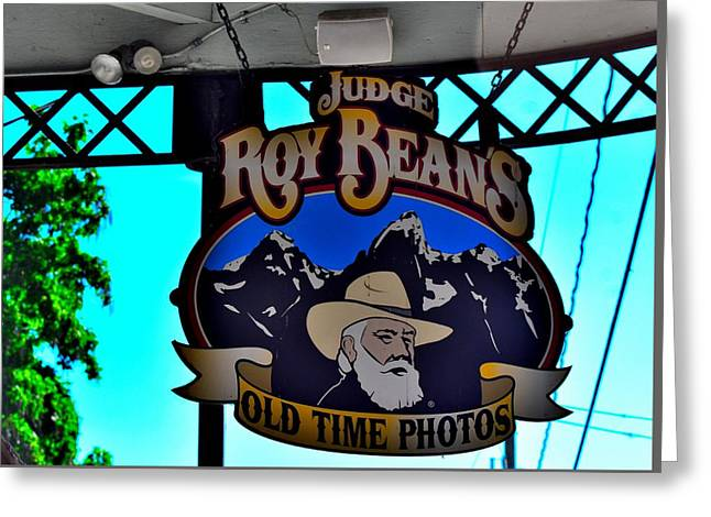 Judge Roy Bean Greeting Cards - Todays Art 1301 Greeting Card by Lawrence Hess