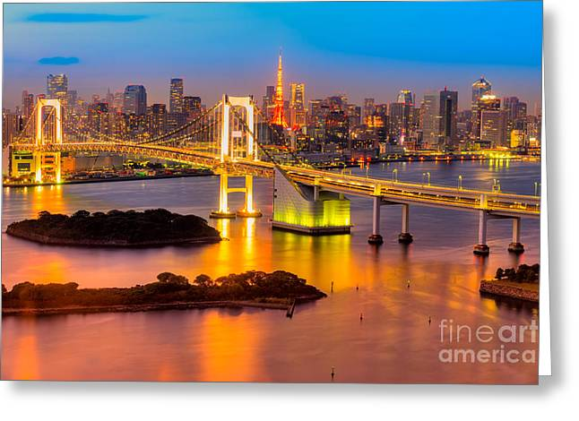 Famous Bridge Greeting Cards - Tokyo - Japan Greeting Card by Luciano Mortula