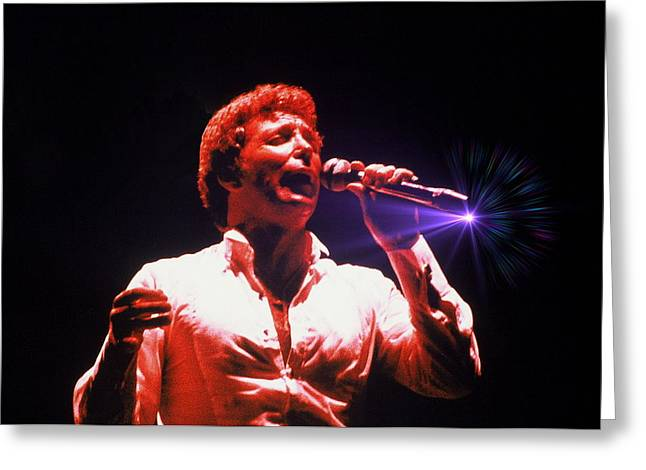 British Celebrities Greeting Cards - Tom Jones In Concert Greeting Card by Anthony Dezenzio