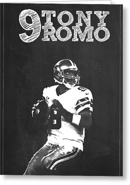 Witten Greeting Cards - Tony Romo Greeting Card by Semih Yurdabak