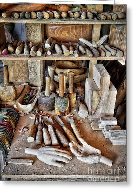 Tools Of The Trade Greeting Card by Tim Gainey