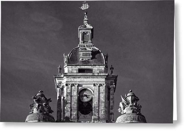 Historic Statue Greeting Cards - Top of the Grosse-Horloge Greeting Card by Jebulon