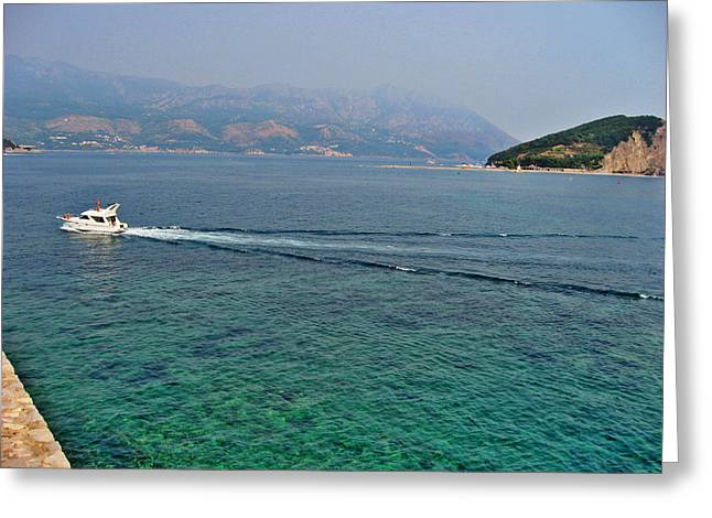 Sea View Greeting Cards - Top View. Old Fortress. Budva. Greeting Card by Andy Za