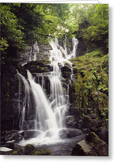 Moss-covered Greeting Cards - Torc Waterfall, Killarney, Co Kerry Greeting Card by The Irish Image Collection