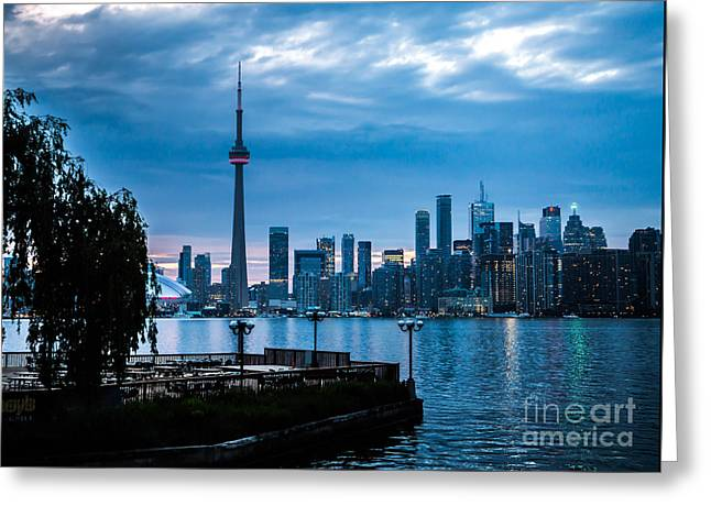 Skyline Pyrography Greeting Cards - Toronto Skyline Greeting Card by Olga Photography
