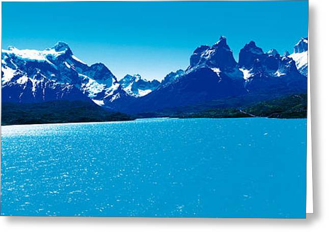 Snow Day Greeting Cards - Torres De Paine National Park Chile Greeting Card by Panoramic Images