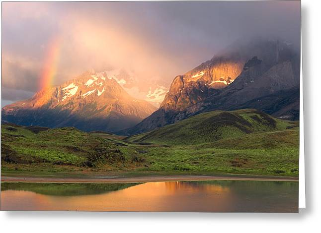 Torres Del Paine - Patagonia Greeting Card by Carl Amoth