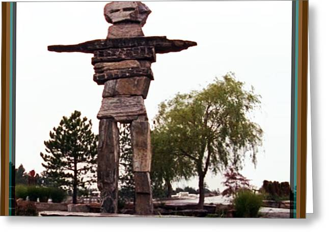 Customizable Greeting Cards - Totem Pole North West Canada Landmarks Celebration of  Native Art and Culture Greeting Card by Navin Joshi