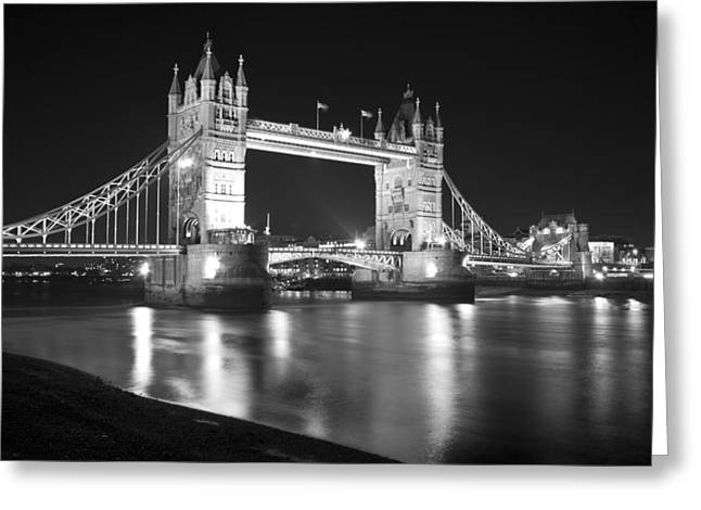 Glas Greeting Cards - Tower Bridge on the Thames London Greeting Card by David French