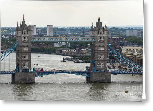 Famous Bridge Greeting Cards - Tower Bridge Greeting Card by Svetlana Sewell