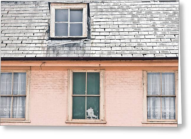 Conversion Greeting Cards - Town house Greeting Card by Tom Gowanlock