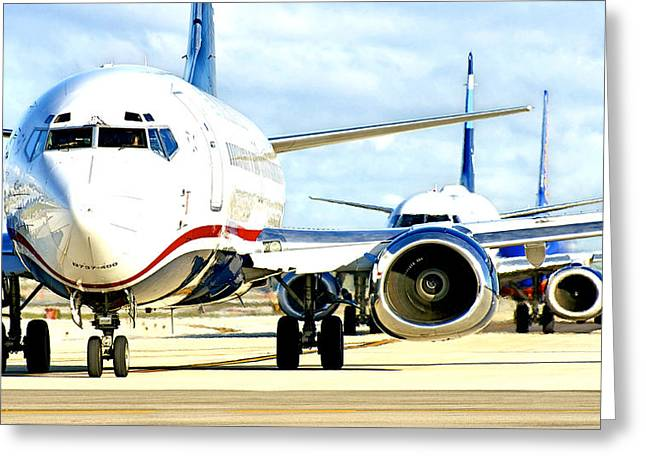 Civil Aviation Greeting Cards - Traffic Greeting Card by Dieter  Lesche