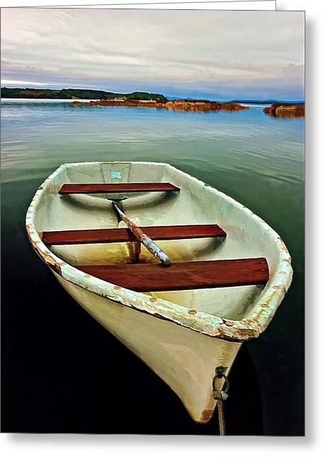 Coastal Maine Greeting Cards - Tranquility Greeting Card by Marcia Colelli