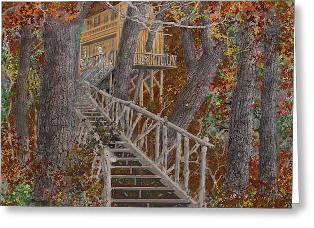 Tree House #1  Greeting Card by Jim Hubbard