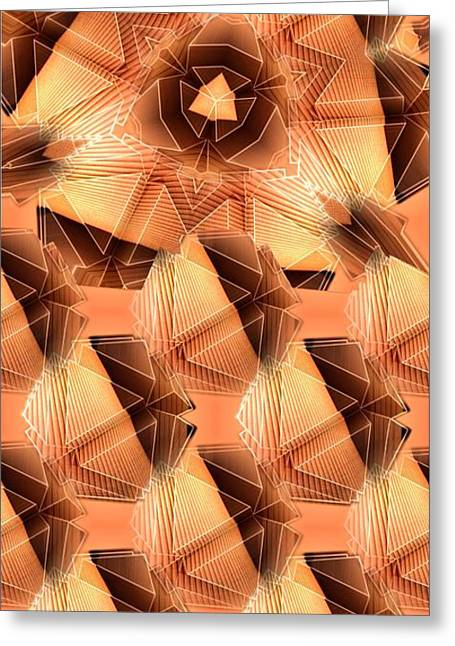 Lampshade Greeting Cards - Triangulation Greeting Card by Ron Bissett