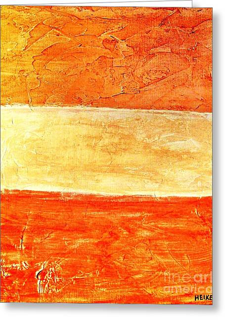 Triple Textures Ll Greeting Card by Marsha Heiken