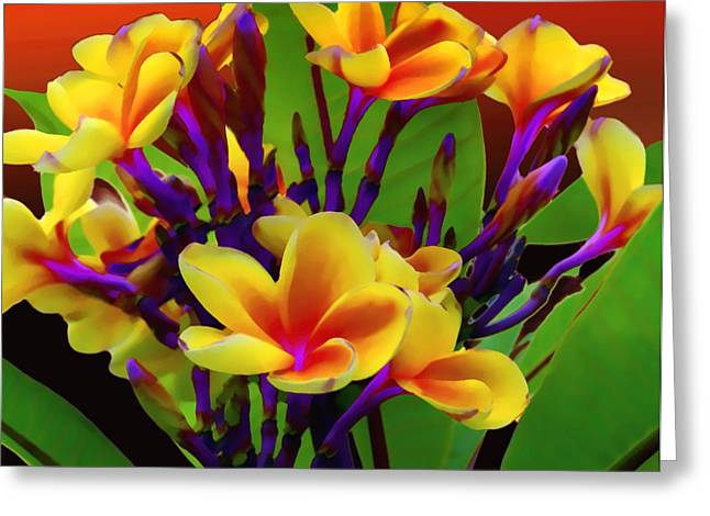 Tropical Vegetation Greeting Cards - Tropical Warmth Greeting Card by Stephen Anderson