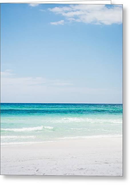 Blue Green Wave Greeting Cards - Tropical Waters Greeting Card by Shelby  Young