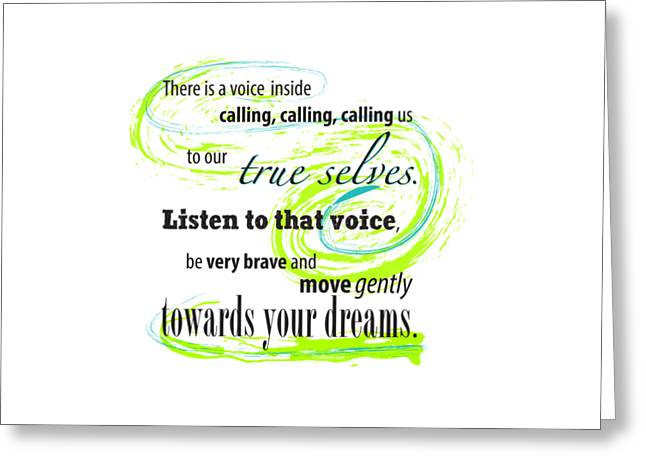 Empower Greeting Cards - True calling Greeting Card by Su Nimon