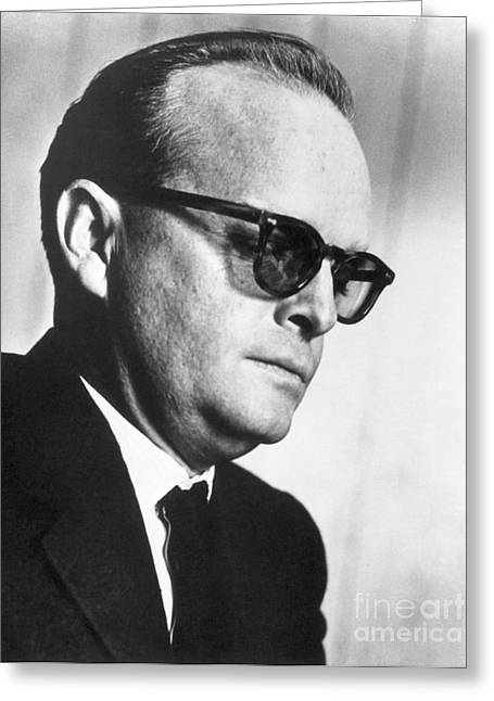 Capote Greeting Cards - Truman Capote (1924-1984) Greeting Card by Granger