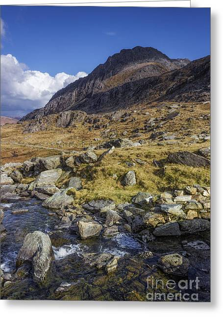 Tryfan Greeting Card by Ian Mitchell