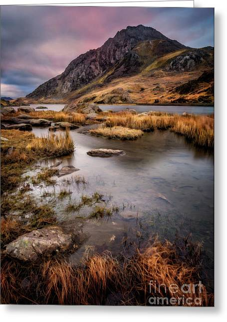 Moss Greeting Cards - Tryfan Mountain Greeting Card by Adrian Evans