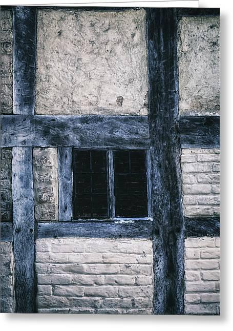 Tudor House Greeting Card by Joana Kruse