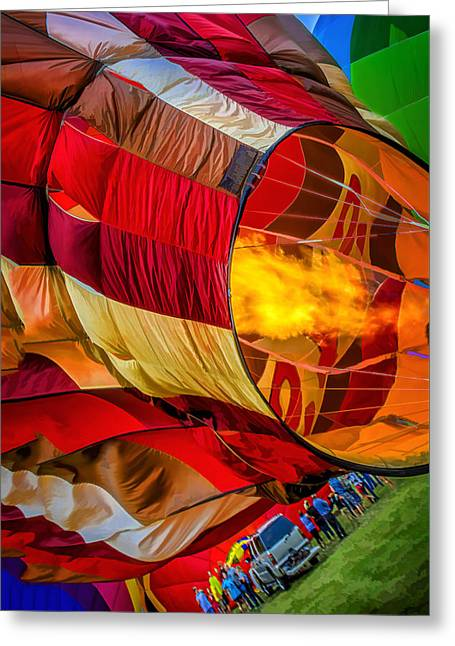 A Hot Summer Day Greeting Cards - Metamora Hot Air Balloon Festival Greeting Card by LeeAnn McLaneGoetz McLaneGoetzStudioLLCcom