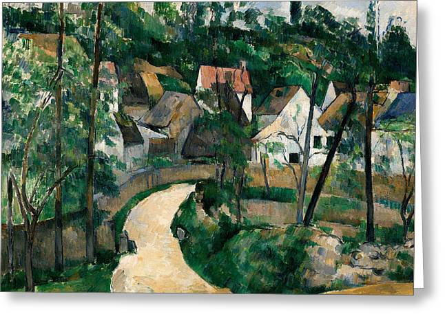 Turn In The Road Greeting Card by Paul Cezanne