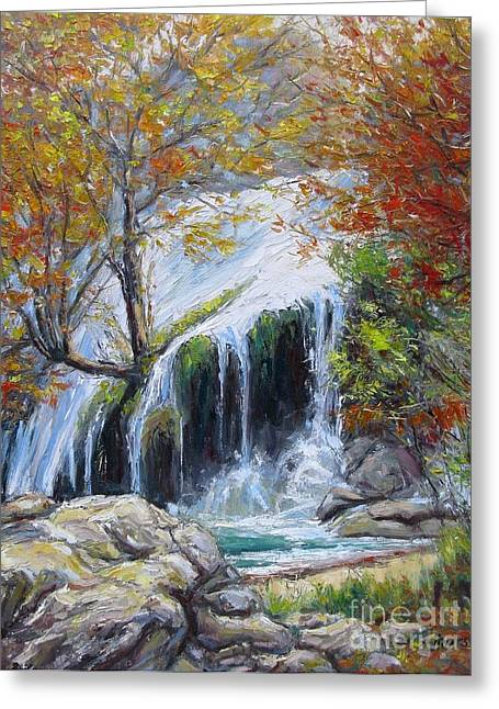 Turner Falls Oklahoma Greeting Card by Vickie Fears
