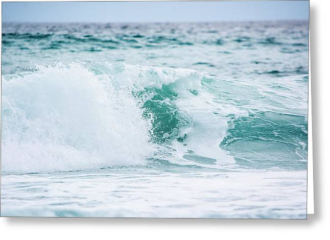 Splashy Greeting Cards - Turquoise Waters Greeting Card by Shelby  Young