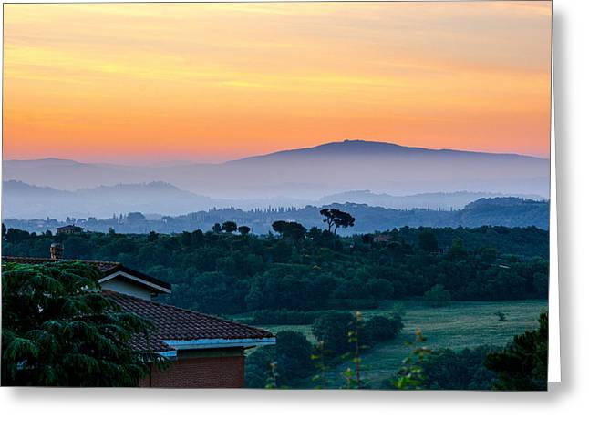 Tuscan Sunset Greeting Cards - Tuscany Greeting Card by Richard Simpson