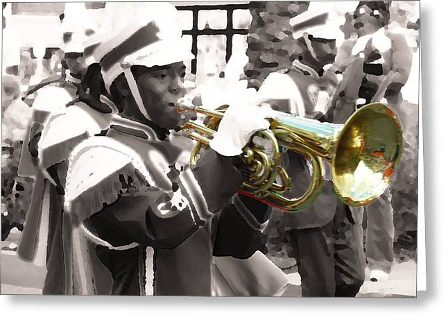 Marching Band Greeting Cards - Tusk Greeting Card by William Fields