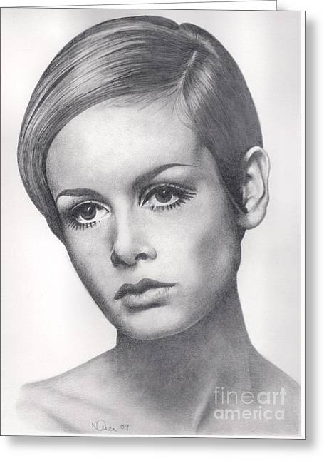 Best Sellers -  - Twiggy Greeting Cards - Twiggy Greeting Card by Karen  Townsend