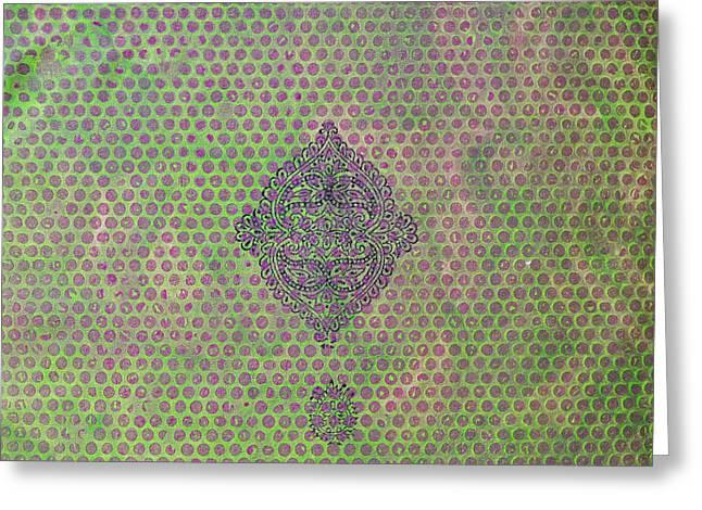 Block Printing Greeting Cards - Twins Greeting Card by Sumit Mehndiratta
