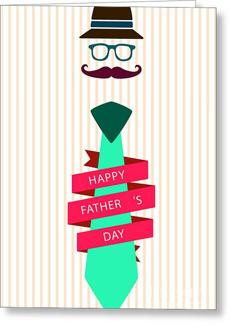 Motivational Poster Greeting Cards - Typography Poster - Happy Fathers Day Greeting Card by Celestial Images