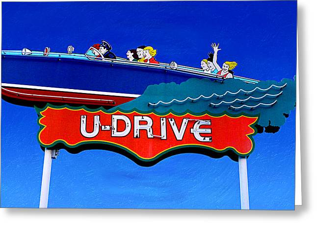 Balboa Island Greeting Cards - U-Drive Greeting Card by Ron Regalado