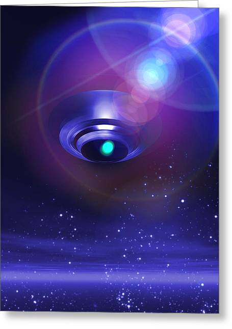 Unidentified Greeting Cards - Ufo, Artwork Greeting Card by Victor Habbick Visions