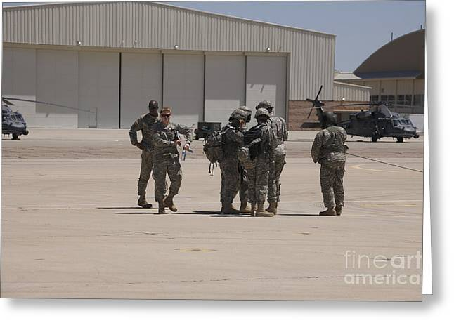 Aircrew Greeting Cards - Uh-60 Black Hawk Aircrew Conduct Greeting Card by Terry Moore