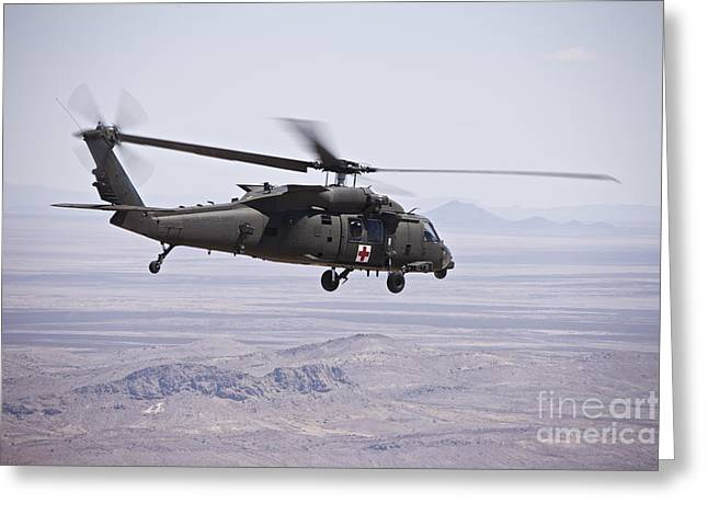 Uh-60 Black Hawk Takes Greeting Card by Terry Moore