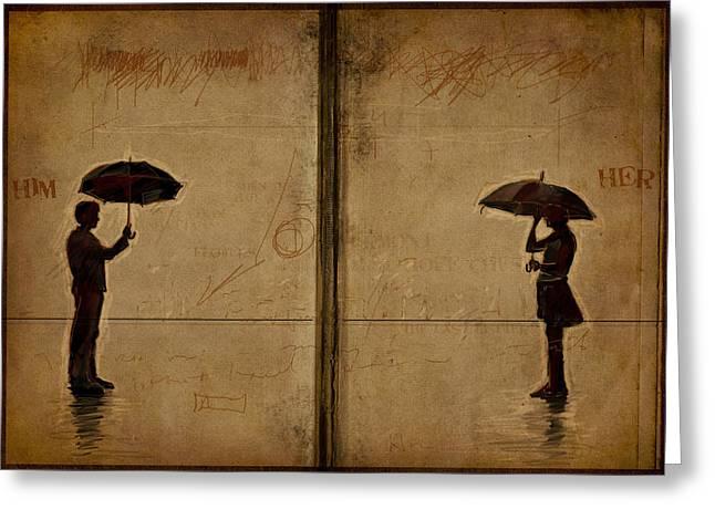 Love Lost Greeting Cards - Umbrellas Greeting Card by H James Hoff