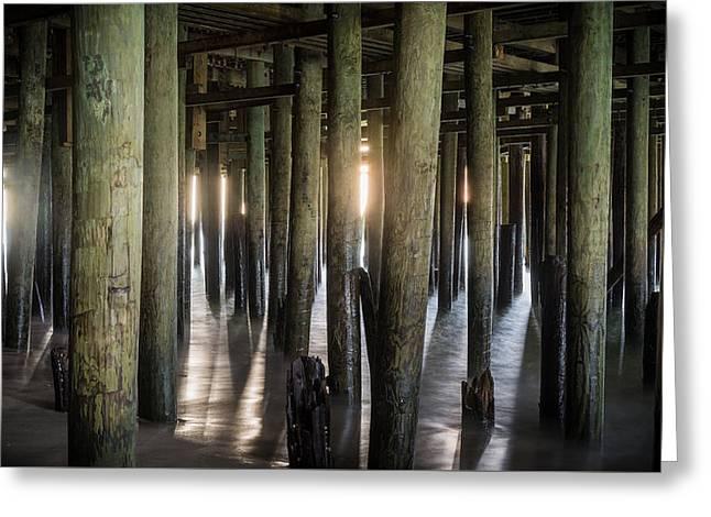 Under The Boardwalk Greeting Card by Kristopher Schoenleber