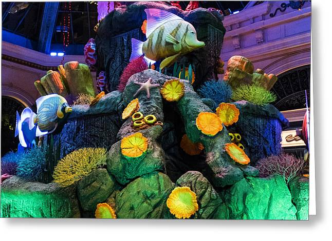 Ceasars Palace Greeting Cards - Under The Sea - Bellagio Conservatory - Las Vegas Nevada Greeting Card by Jon Berghoff