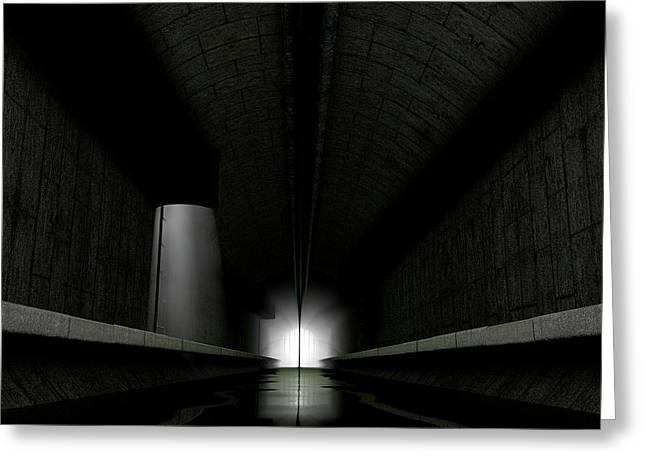 Underground Sewer Greeting Card by Allan Swart