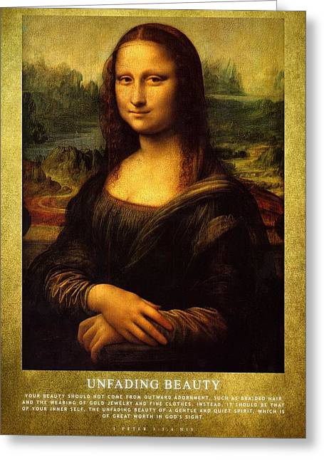 Modesty Greeting Cards - Unfading Beauty Greeting Card by Roman Dela Rosa