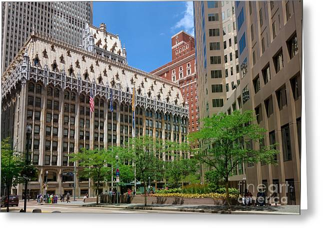 Union Trust Building Pittsburgh Pennsylvania Greeting Card by Amy Cicconi