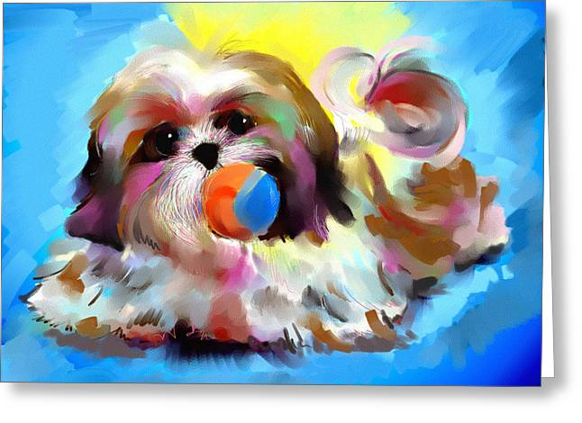 Toy Dog Greeting Cards - Uniquely yours Greeting Card by Richard Okun